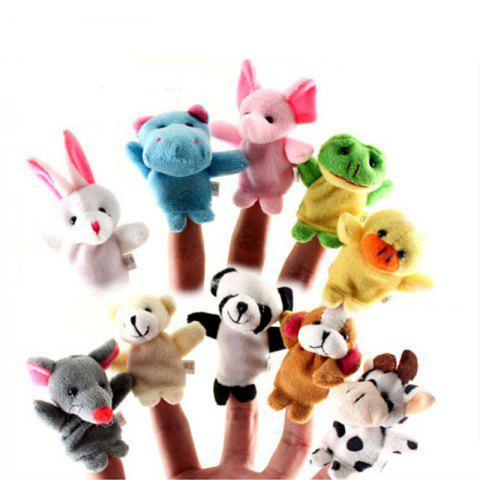 Best Hand Puppet Puzzle Toys Cute Cartoon Animal Finger Soft Toys Dolls 10PCS