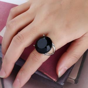 Fashionable Popular Resin Texture Character Ring -