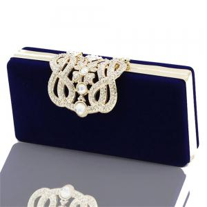 The Velvet with Diamond Evening Clutch Bag -