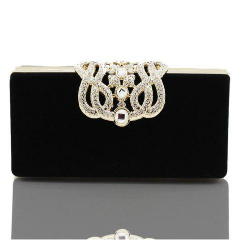 Store The Velvet with Diamond Evening Clutch Bag