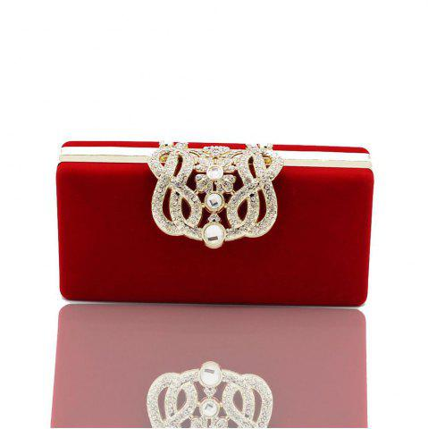 Affordable The Velvet with Diamond Evening Clutch Bag