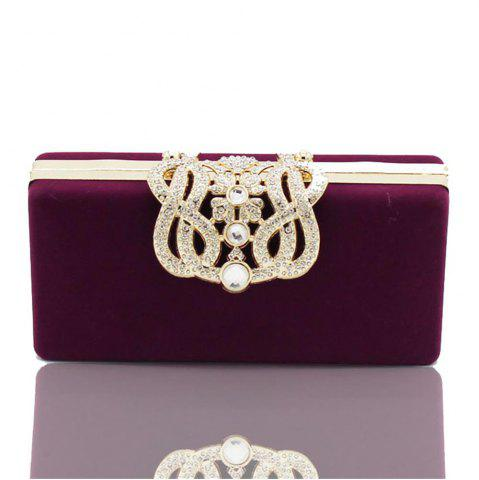 New The Velvet with Diamond Evening Clutch Bag