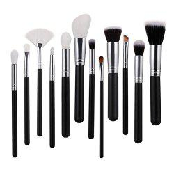 Silver Makeup Brush Set 12PCS -