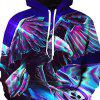 Fashionable Metal Eagle Print Hoodie -
