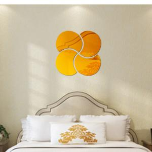 3D Stereoscopic Remover PS Paste Round Mirror Home Decoration Wall Stickers -