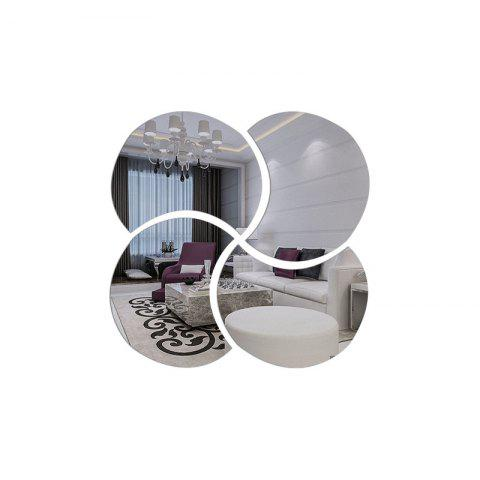 Outfit 3D Stereoscopic Remover PS Paste Round Mirror Home Decoration Wall Stickers