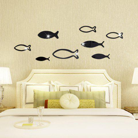 Unique Underwater World Fish Mirror Pasted Bathroom Parlor Bedroom Decoration 3D Wall Stickers