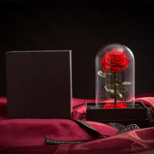 Flowers Glass Birthday Gift Rose on Valentine Day Christmas Gift Ideas -
