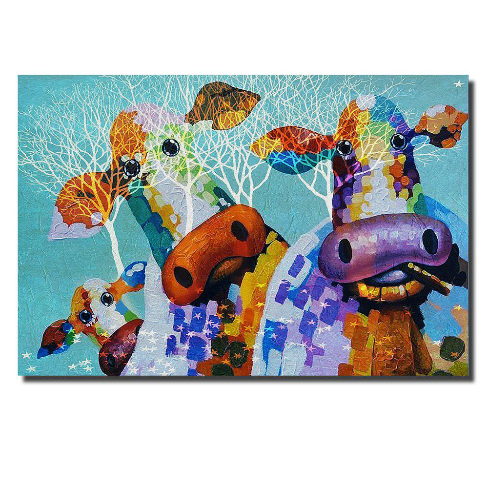 Online HD Print Modern Decoration Cute Cow Home Living Room Bedroom Wall Art Painting