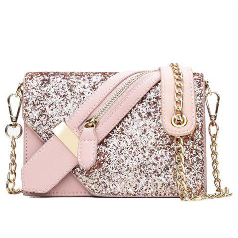 Chic Women Zipper Messenger Bags Fashion Ladies Luxury Chain Shoulder Bag
