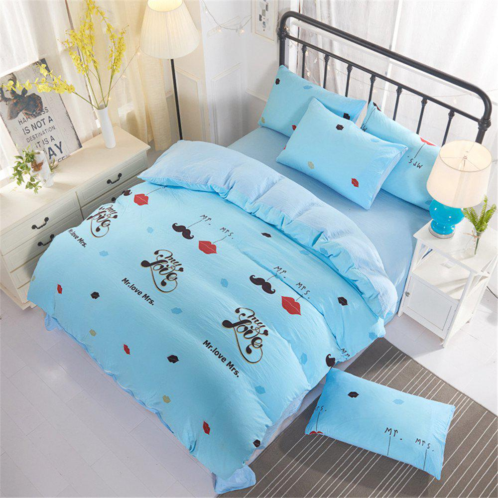 Outfits Aloe Cotton Student Dormitory Bedding 1.5M/1.8M 4PCS/SET