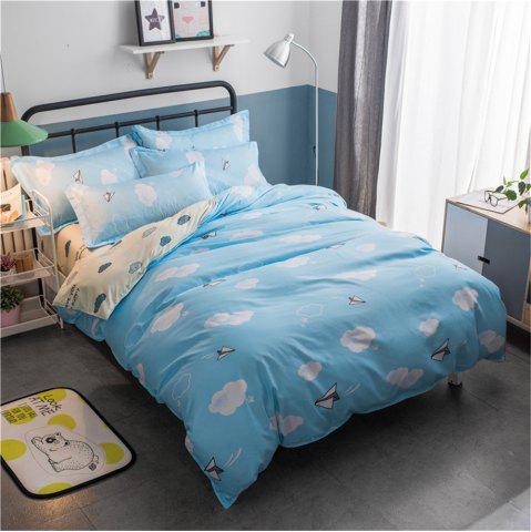 Outfits Cotton Four Pieces Bedding Sets Active Printing