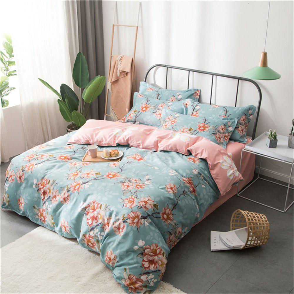 Shop Cotton Four Pieces Bedding Sets Active Printing
