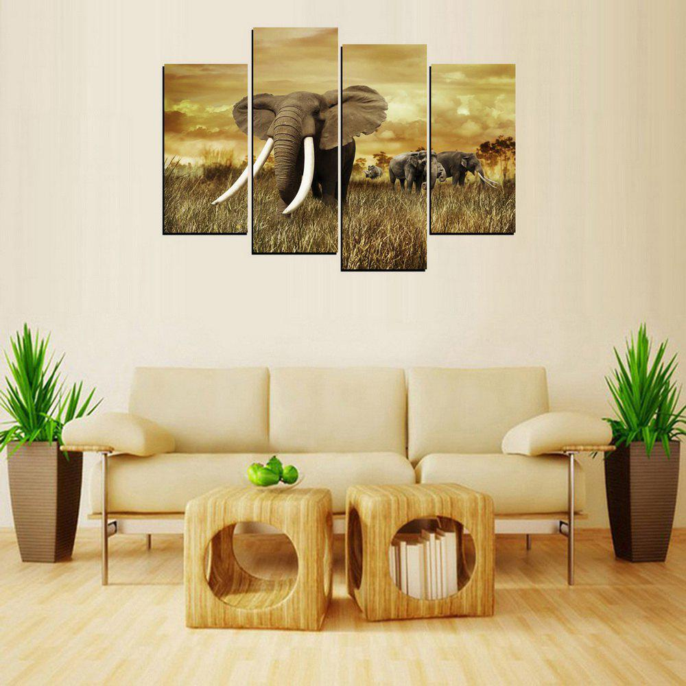 Online MailingArt FIV226  Four Panels Landscape Wall Art Painting Home Decor Canvas Print
