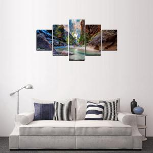 MailingArt FIV233  5 Panels Landscape Wall Art Painting Home Decor Canvas Print -