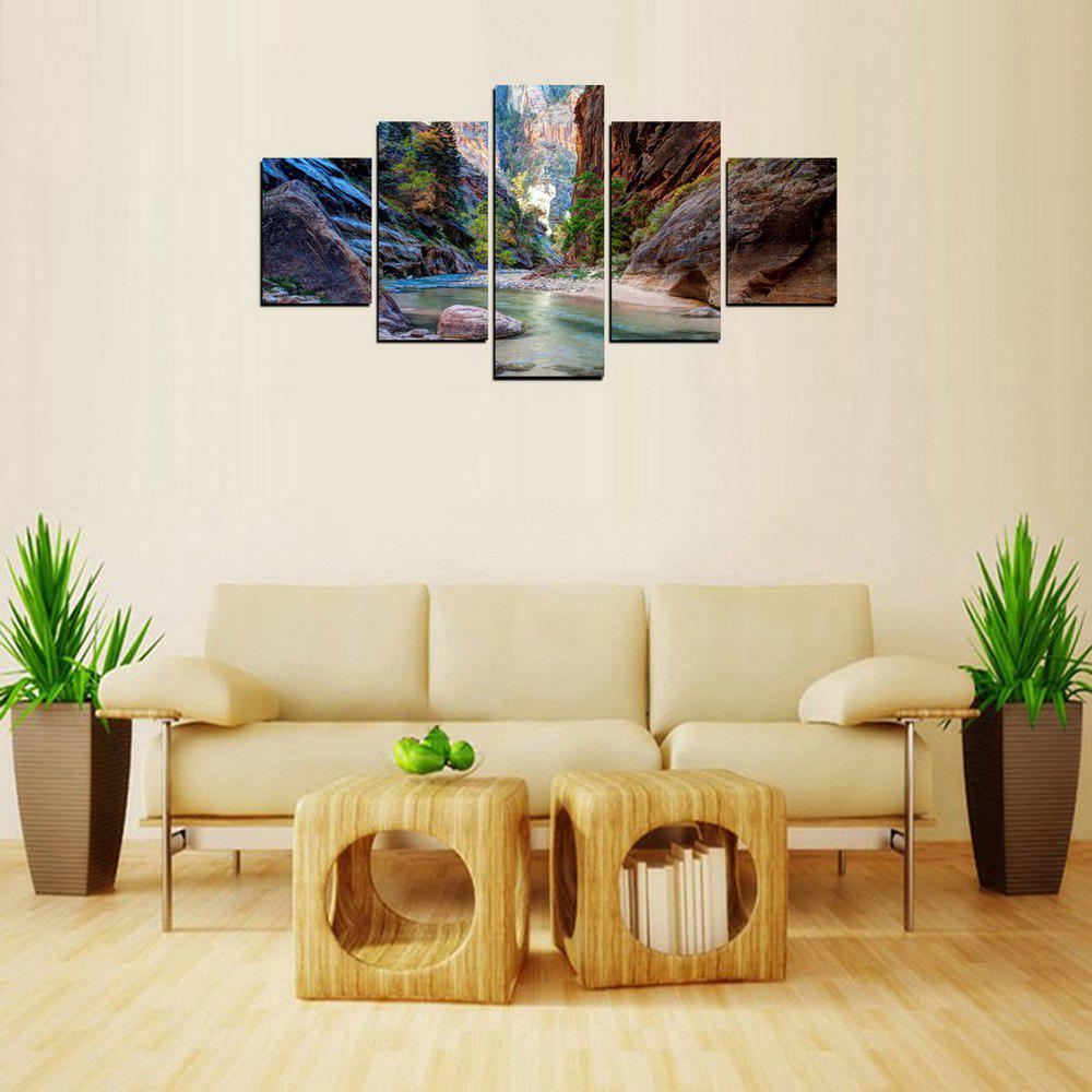 New MailingArt FIV233  5 Panels Landscape Wall Art Painting Home Decor Canvas Print