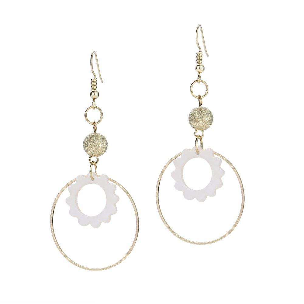 Discount Round Shell Bead Drop Earrings