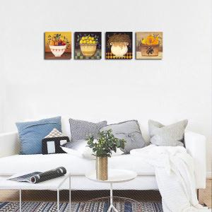 QiaoJiaHuaYuan No Frame Canvas Living Sofa Background Garden Landscape Decoration Hanging Print -