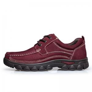 ZEACAVA Shockproof Frosted Leather Shoes for Men -