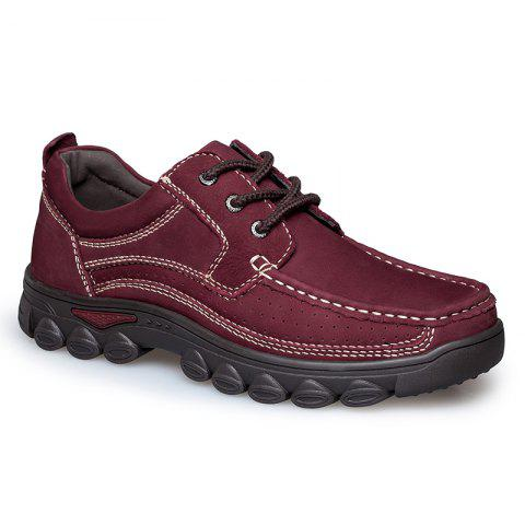 Chic ZEACAVA Shockproof Frosted Leather Shoes for Men