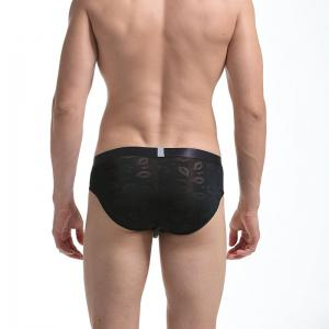 Men's Transparent Sexy Lips and Underwear -