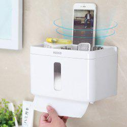 Multifunctional Waterproof  Toilet Paper Towel Rack Punch Box -