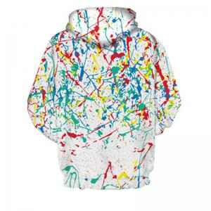 3D Digital Printing Color Ink Fashion Hoodie -