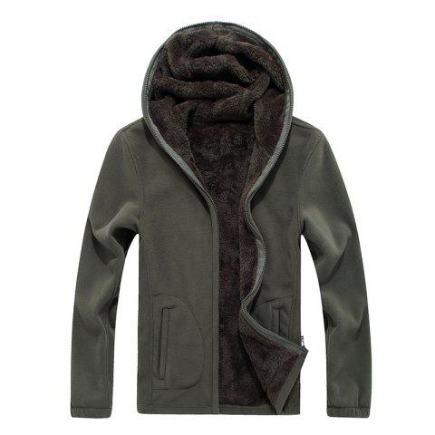 Fashion New Autumn and Winter Slim Hooded Cardigan Cashmere Coat