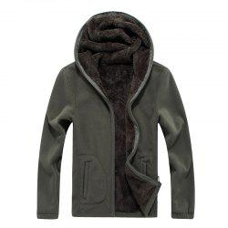 New Autumn and Winter Slim Hooded Cardigan Cashmere Coat -