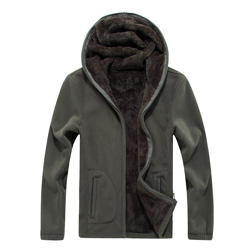 Discount New Autumn and Winter Slim Hooded Cardigan Cashmere Coat