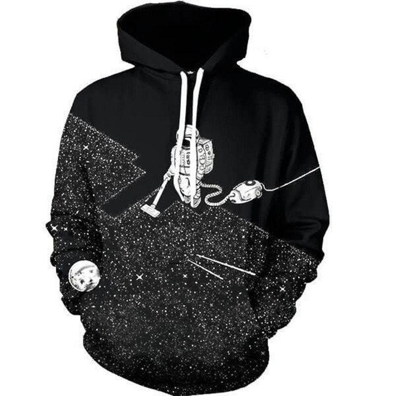 Outfit New Astronaut Weeding Digital Printed Hoodie