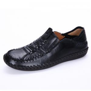 New Men Vintage Soft Knitted Stitching Casual Oxford Shoes -