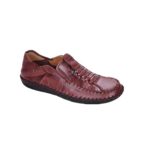 Outfit New Men Vintage Soft Knitted Stitching Casual Oxford Shoes