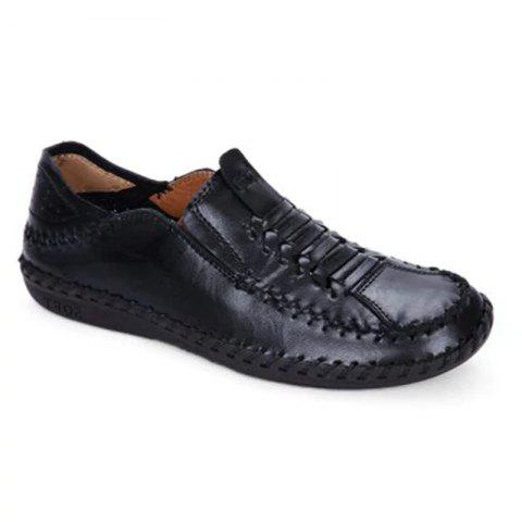 Shops New Men Vintage Soft Knitted Stitching Casual Oxford Shoes
