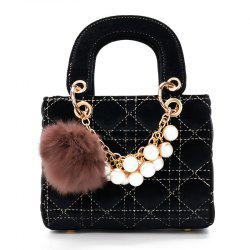 Pearls Velvet Simple Fashion Shoulder Messenger Bag Handbag -
