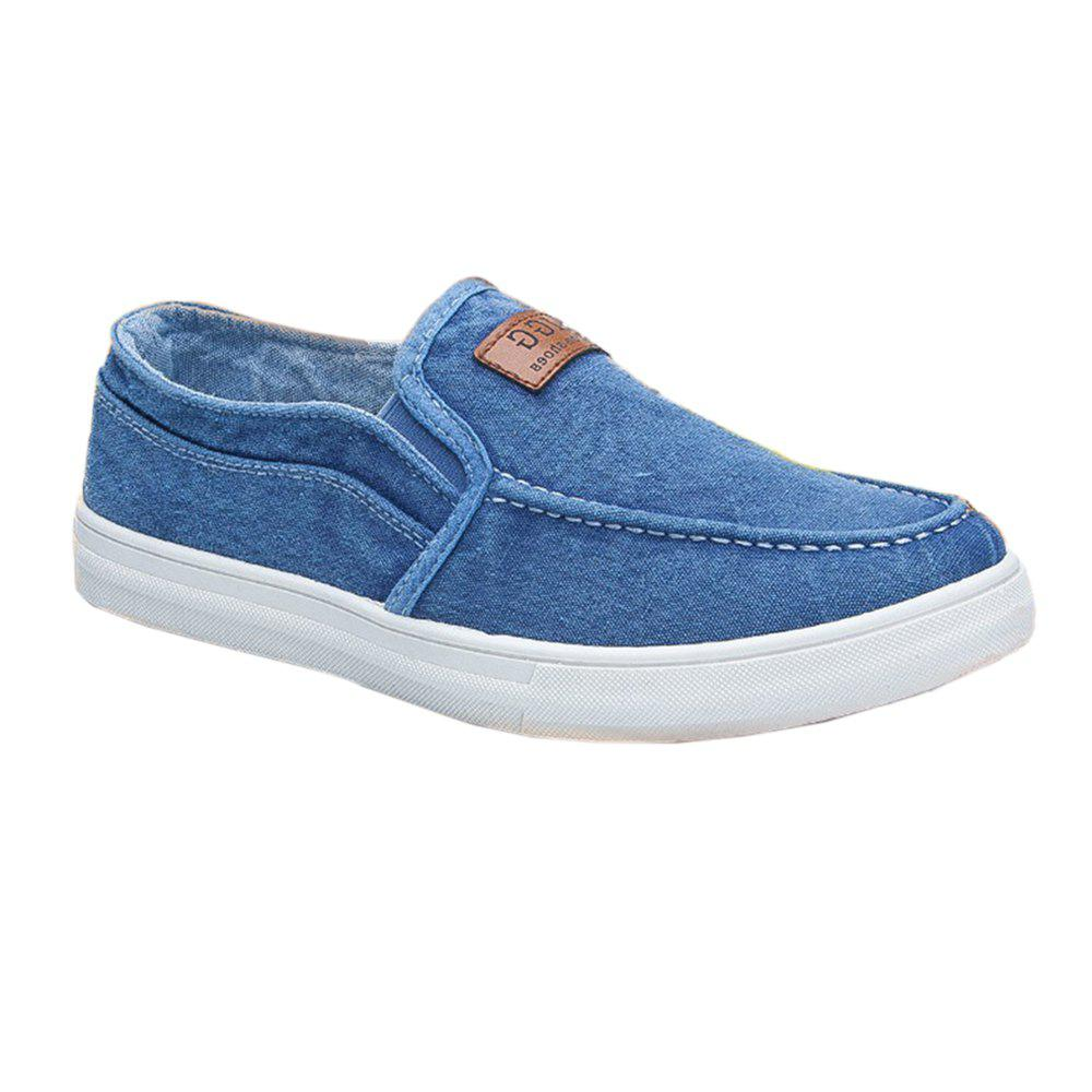 Outfit Men Lazy Canvas Deck Shoes Low-sleeve Simple Flat Sneakers