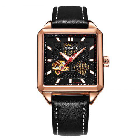Buy OUBAOER 2003A Square Automatic Mechanical Hollow Men Watches