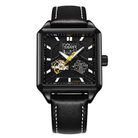Best OUBAOER 2003A Square Automatic Mechanical Hollow Men Watches