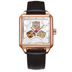 OUBAOER 2003A Square Automatic Mechanical Hollow Men Watches -