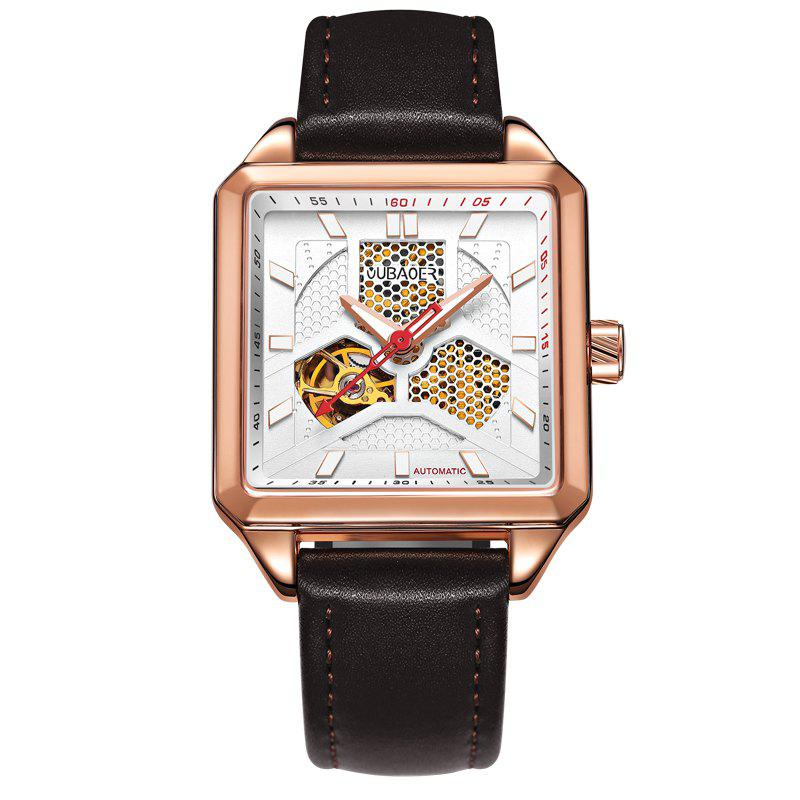 Trendy OUBAOER 2003A Square Automatic Mechanical Hollow Men Watches