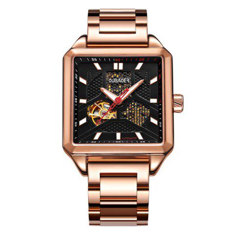 Buy OUBAOER 2003B Square Automatic Mechanical Hollow Men Watches