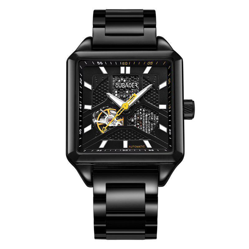 Trendy OUBAOER 2003B Square Automatic Mechanical Hollow Men Watches