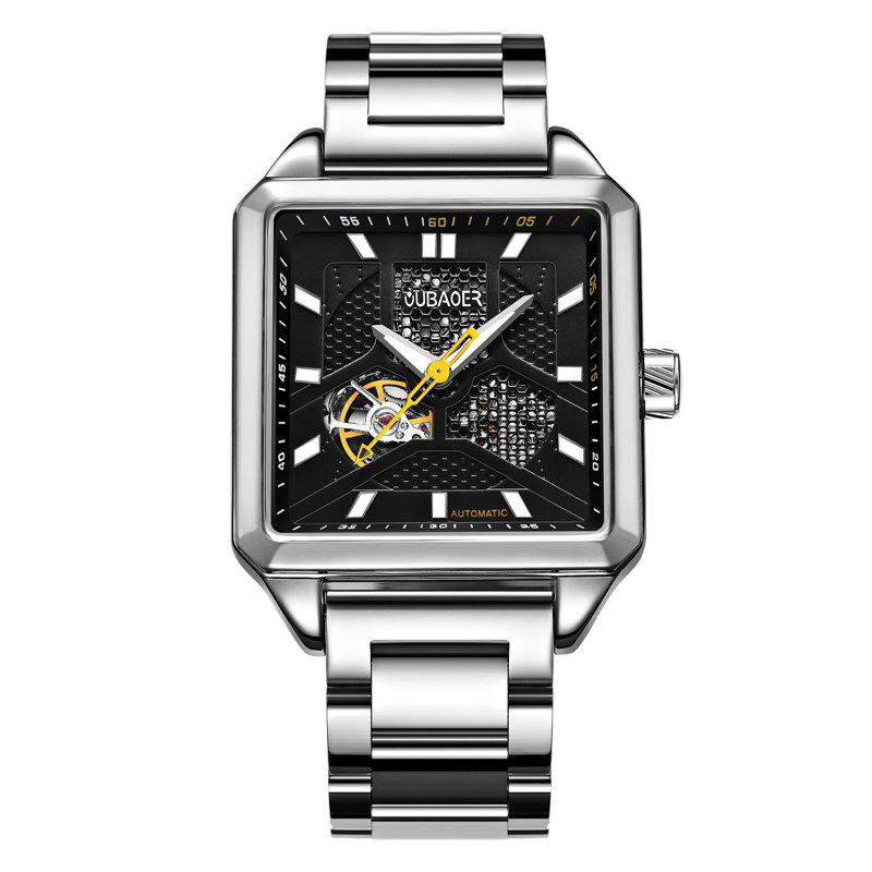 Hot OUBAOER 2003B Square Automatic Mechanical Hollow Men Watches