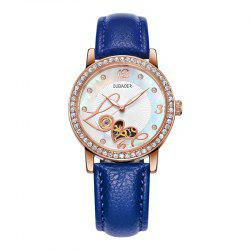 OUBAOER 2005B Automatic Machinery Leather Fashion Women Watch -