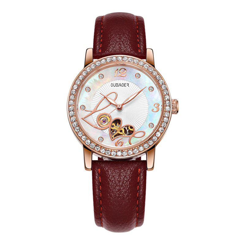 Sale OUBAOER 2005B Automatic Machinery Leather Fashion Women Watch