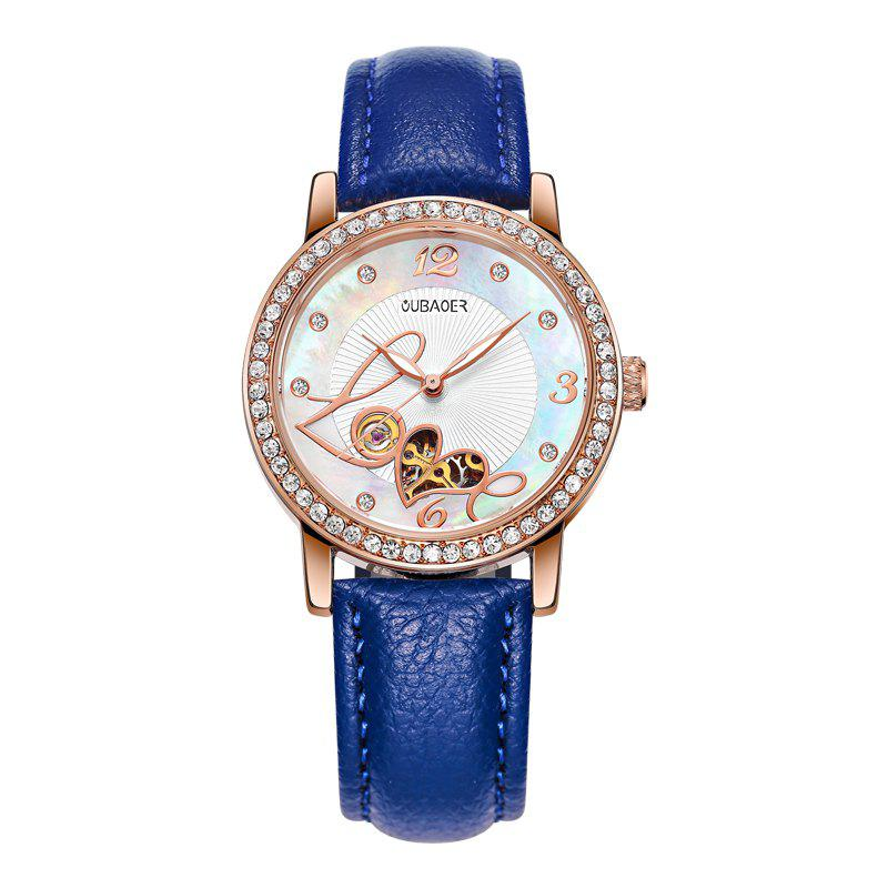 Trendy OUBAOER 2005B Automatic Machinery Leather Fashion Women Watch