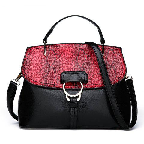 Outfits Wild Messenger Snakeskin Shell Shell Oil Wax Shoulder Bag Shoulder Handbags