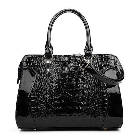 Outfit Fashionable Personality Crocodile Pattern Shoulder Simple Diagonal Cross Handbag