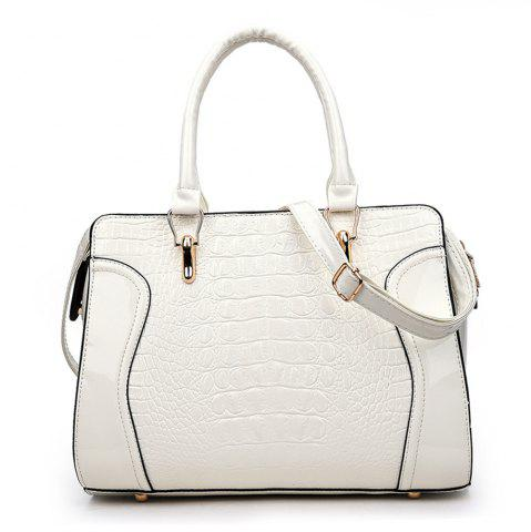 Online Fashionable Personality Crocodile Pattern Shoulder Simple Diagonal Cross Handbag