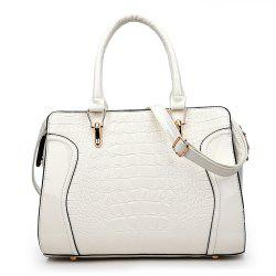 Fashionable Personality Crocodile Pattern Shoulder Simple Diagonal Cross Handbag -
